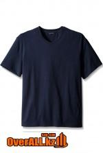 Синяя футболка с V-образным вырезом