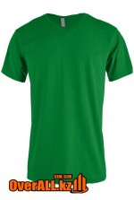 Зеленая футболка с V-образным вырезом