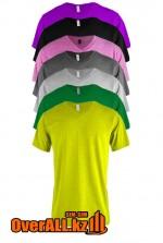 Фиолетовая футболка с V-образным вырезом