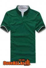 Зелено-серая футболка поло