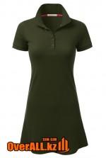 Зеленое платье поло