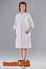 Женский медицинский белый халат